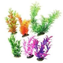 6 Planta Pcs Colores Surtidos Acuario Plástico Decoración W