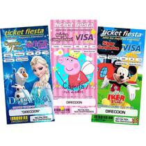 Invitaciones Infantiles T/ticket Y Portada De Revista
