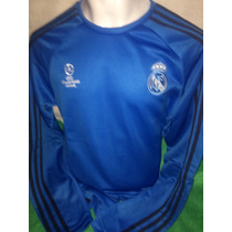 Sudadera Real Madrid Champions League 2016 Azul