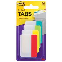 Banderitas Separadores Rigidas 4 Colores Con 24 Post-it 3m