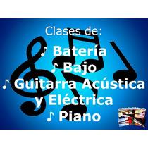 Clases Batería Bajo Canto Guitarra Piano Niños Principiante