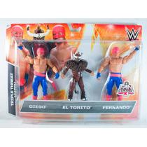 Wwe Wrestling Exclusives Diego, El Torito & Fernando 3 Pack