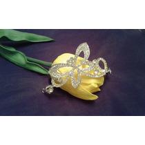 Tiara Con Cristales Modelo Mariposa Para Cualquier Evento
