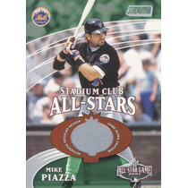 2002 Stadium Club All Star Jersey Mike Piazza 992/1200 Mets