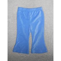 Simply Basic! Pantalón Acampanado Azul Para Nena, 12 Meses