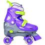 Chicago Chica Ajustable Quad Skate Purple / Silver Pequeño