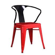 Silla Con Descansabrazos Roja Con Negro