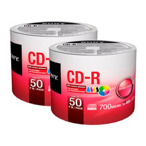 100 Cd -r Sony 700 Mb 48x Imprimibles Full Face 100% Origina