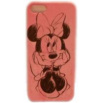 Funda Protector Mobo Apple Iphone 5/5s Minnie/dibujo Rosa