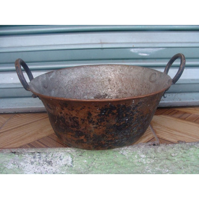 Cazuela de cobre mide 25cm de diametro en el exterior - Cazuelas de cobre ...