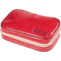 Organizador Caso Clava Wellie Pequeño Cosmética Rojo