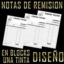 Notas De Remisión Mil Cuarto De Carta Con Copia Y Diseño