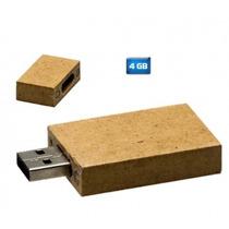 Usb De Carton Reciclado Y Llavero De Madera 4gb. Recuerdos