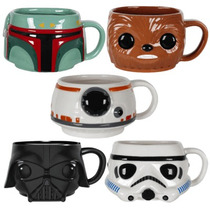 Funko Set 5 Tazas Star Wars Ceramica Darth Vader Boba Pop