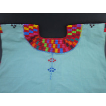 Blusa Bordada,artesanal De Manta, Unitalla, Oaxaca Mitla
