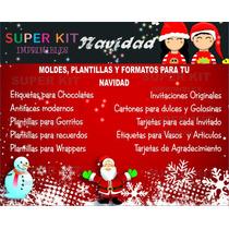 Kit Imprimible Navidad Invitaciones, Etiquetas Cajitas #2