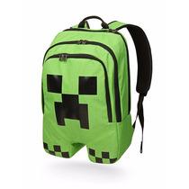 Mochila Minecraft Creeper Original Importada