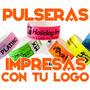 100 Pulseras Personalizadas Tyvek Eventos Fiestas Hotel