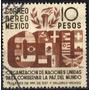 2228 M�xico O N U Scott # C161 A�reo 10pesos Usado L H 1946