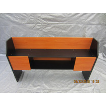 Credenza En Madera Color Maple Y Negro