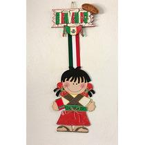 Colgante Mexicanita Para Fiestas Patrias - Madera Country