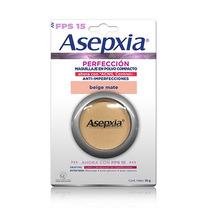 Asepxia Autentico Original Maquillaje Polvo Beige Mate Fps15