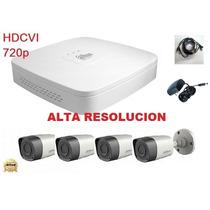Kit Dahua 4 Camaras Hdcvi 720p Dvr 8 Canales Disco Cctv