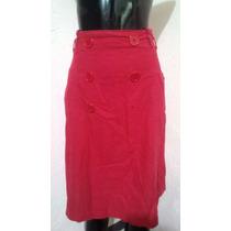 Falda Roja Linda Bolsas Alos Lados