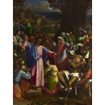 Lienzo Tela Resurrección De Lazaro Arte Sacro 66 X 50