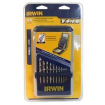 Broca Alta Velocidad Irwin 1-13 Mm Juego De 25 Piezas
