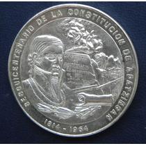 Medalla Mexico Independencia Cons De Apasingan 1964 Plata
