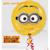 Minions Globo Metalico 18 Pulgadas
