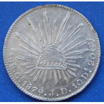 Moneda 8 Reales Culiacan 1879 J D Escasa Excelente