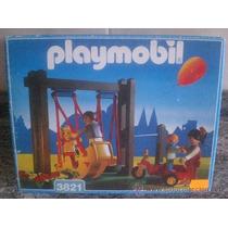 Playmobil 3821 Area De Juegos Infantiles Columpio Y Llanta J