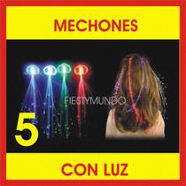 5 Cabello Luminoso Mechones Con Luz Fiesta Eventos Accesorio