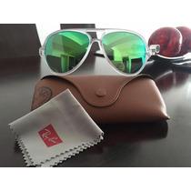Gafas Ray Ban Nuevas Modelo Piloto Con Espejado Clásico