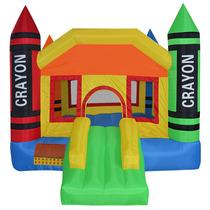 Brincolin Inflable Crayolas De Colores Niños Fiestas Calidad