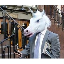 Máscara De Unicornio Latex Premium Caballo Harlem Shake Hors