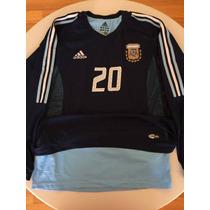Adidas Argentina 2002 Doble Tela Manga Larga Utilería