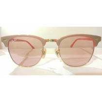 Ray Ban 3016 Red Gradiend Clubmaster Rb3016 Hipster Rojo