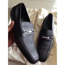 Zapatos Salvatore Ferragamo Nuevos Negros Originales 8 Mex