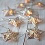 Serie De Luz Led Con Diseño Retro Estrellas Para Fiestas