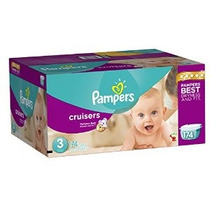 Pampers Cruisers Pañales Economía Plus Pack Tamaño 3 174 Con