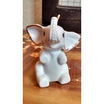 Elefante Figura De Porcelana Antigua.