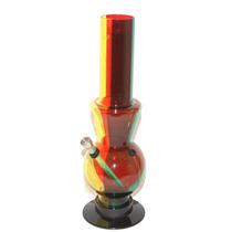 Bong Tricolor Con Pipa De Agua Con Clutch 32cm Acrilico
