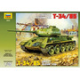 Tanque Zvezda T34 85 1/35 Armar Y Pintar / No Tamiya Revell