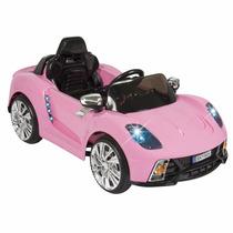 Carrito Eléctrico Infantil Auto Rosa Control Remoto Y Mp3