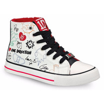 Tenis Blancos Tipo Bota Para Niña Modelo One Direction