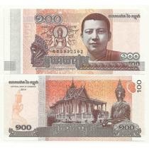 Billete Camboya 100 Riels (2014) Buda Norodom