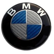 Emblema Bmw Cajuela Fibra De Carbono Azul 74mm Accesorios